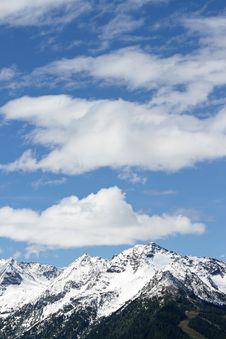 Slopes In The Alps Stock Photo