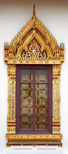 Free Thai Temple Window Stock Images - 14971324