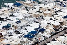 Free Large Parking Boats At Sea Stock Image - 14971531