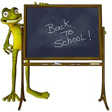 Free Frog Back To School Stock Photos - 14971743