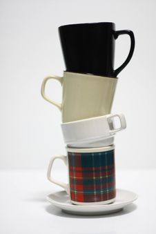 Free Coffee Cups Tower Stock Photos - 14971773