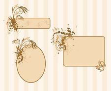 Grunge Floral Abstract Banner Royalty Free Stock Photo