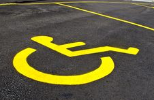 Free Handicap Parking Sign Stock Photo - 14972390