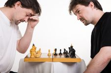 Free Two Men Play A Chess Stock Photography - 14972622