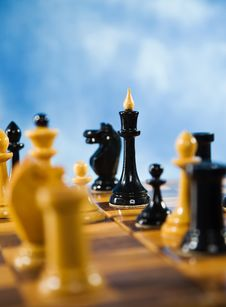 Free Chessmen On A Chessboard Stock Image - 14972631