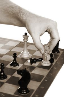 Free Chessmen On A Chessboard Stock Image - 14972641