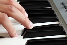 Free Closeup Of A Male Hand Playing A Piano Royalty Free Stock Photos - 14972648