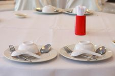 Free Thai Resturant Place Setting Royalty Free Stock Photo - 14972655