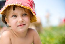 Cute Liitle Girl Close-up Royalty Free Stock Photos