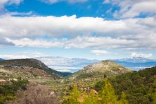 Landscapes In The Peloponesse Stock Photo