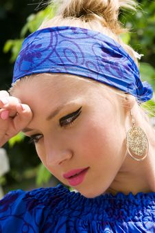 Free Portrait Of Young Chick In Headband Royalty Free Stock Photography - 14972997