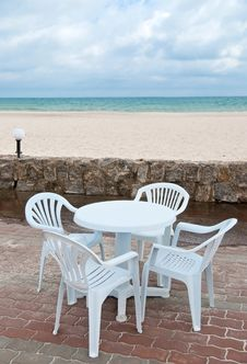 Free Table On The Beach Royalty Free Stock Image - 14973056