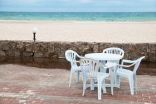 Free Table Near Sea Stock Image - 14973071
