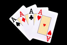Free Four Aces Royalty Free Stock Photography - 14974257