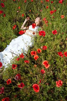 Free Girl In Poppies Stock Photos - 14975183