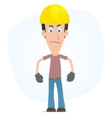 Free Angry Builder Royalty Free Stock Photo - 14975735