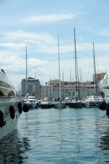 Cannes Harbour Stock Images