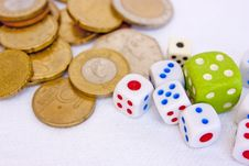 Free Dices And Coins Stock Images - 14976584