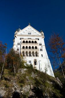 Neuschwanstein Castle, Bottom View Royalty Free Stock Images