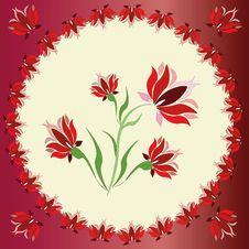 Red Circle  Frame Stock Image