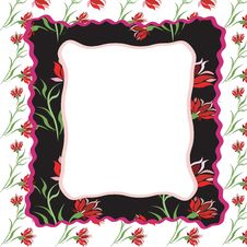 Free Frame With Floral Ornament Royalty Free Stock Photography - 14979677