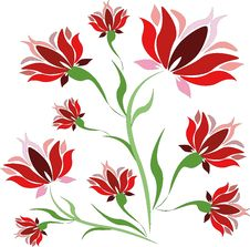 Free Red Flowers. Royalty Free Stock Images - 14979729