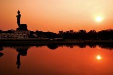 Free Buddha Silhouette Stock Image - 14979871