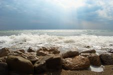 Waves On The Black Sea Royalty Free Stock Photo