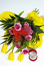 Free Bunch Of Yellow Tulips Stock Images - 14984804