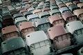 Free Retro Stadium Seats Royalty Free Stock Image - 14984916