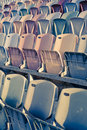 Free Retro Stadium Seats Royalty Free Stock Image - 14984946