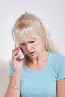Free Blond Woman Phoning Royalty Free Stock Photo - 14980335