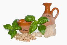 Free Ingredients Of Pesto Sauce Royalty Free Stock Photography - 14981207