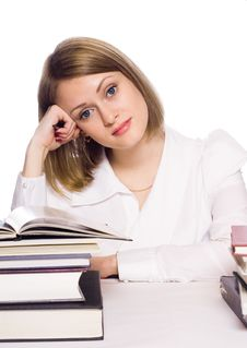 Free Young Woman Reading Book Stock Photography - 14981272