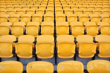 Row Yellow Seat Royalty Free Stock Photography