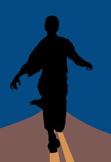 Free Running Man Royalty Free Stock Photo - 14983105