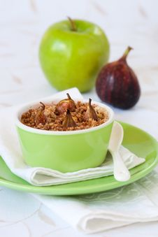 Apple And Fig Crumble