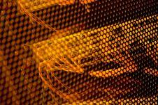 Free Network Switch Shot Through Cabinet Mesh Stock Photos - 14983903