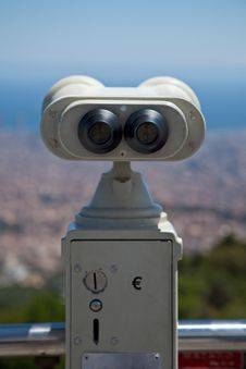 Free Coin Operated Binocular Back Stock Photos - 14983993