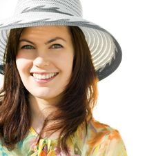Free Smilning Girl With Hat Royalty Free Stock Image - 14984216