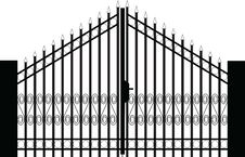 Free Gate Silhouette Stock Photos - 14984673