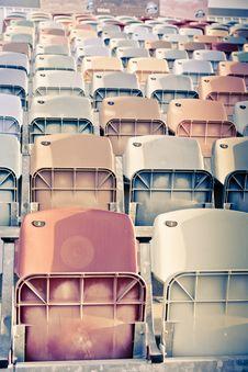Free Retro Stadium Seats Royalty Free Stock Photography - 14984937