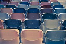 Free Retro Stadium Seats Stock Image - 14984951