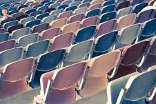 Free Retro Stadium Seats Stock Images - 14984954