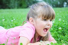 Free Girl In The Grass Royalty Free Stock Photo - 14985825