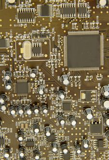 Free Circuit Board Straight Down Stock Photos - 14986513