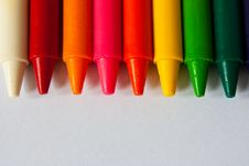 Free Colorful Crayons Royalty Free Stock Images - 14986539