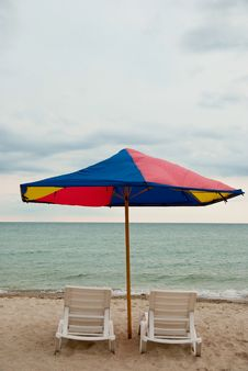 Free Two Beach Chairs Stock Images - 14987014