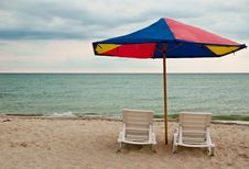 Free Beach Chairs Royalty Free Stock Photos - 14987018