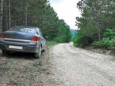 Free A Car Standing On A Dirt Road Stock Image - 14987571